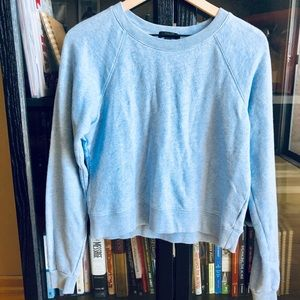 J. Crew sky blue cropped sweater —size S
